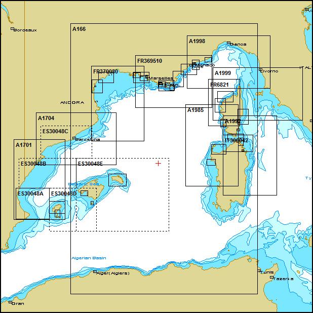 Westliches Mittelmeer Mit Frankreich Spanien Transas Seekarten